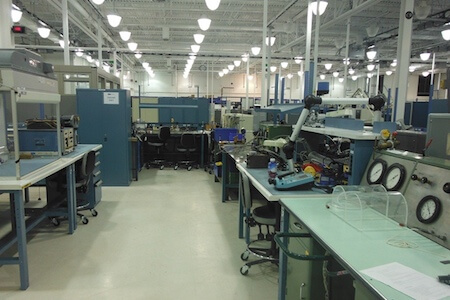 Installations d'une usine oeuvrant dans le secteur aéronautique