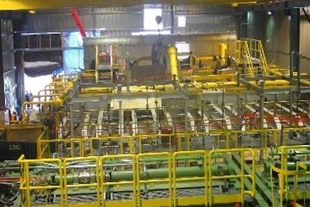 Équipements pour la fabrication d'acier d'armature, usine ArcelorMittal Canada, Longueuil, Québéc