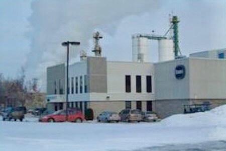 Vue de l'édifice de Borden Chemical, Laval, Québec
