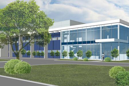 Maquette de la nouvelle usine du Centre international de développement pharmaceutique, Saint-Hyacinthe, Québec