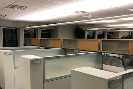 Aménagement de bureaux à aire ouverte