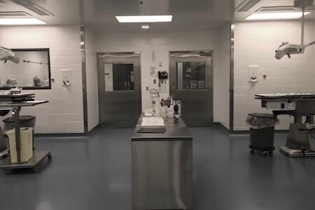 Vue de nouvelles installations de recherche pharmaceutique