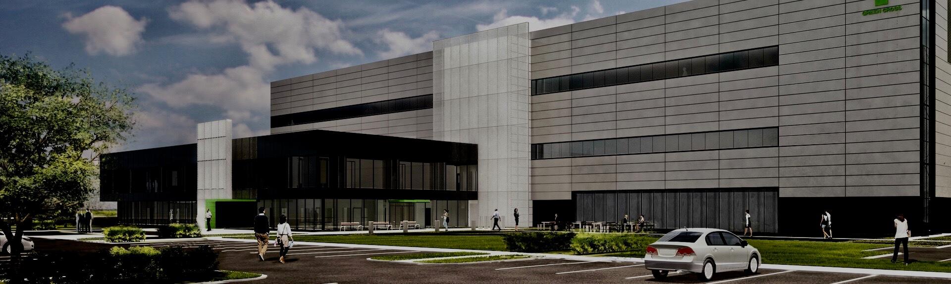Maquette de la nouvelle usine de Green Cross Biotherapeutics, Montréal, Québec
