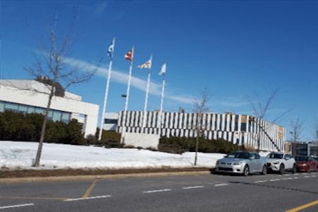 Vue du siège social de l'Institut Néomed, Montréal, Québec