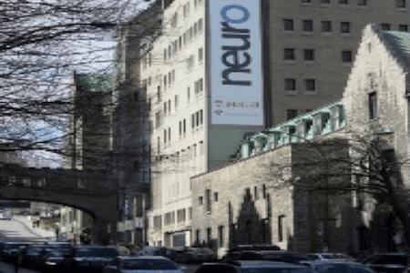 Vue de l'Institut et Hôpital neurologiques de Montréal, Université McGill
