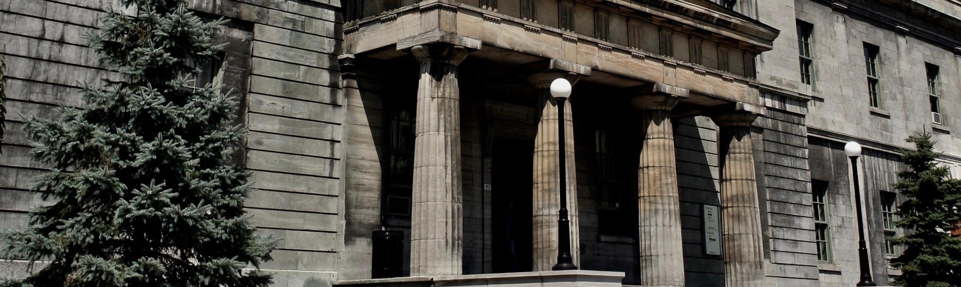 Façade d'un édifice de l'Université McGill