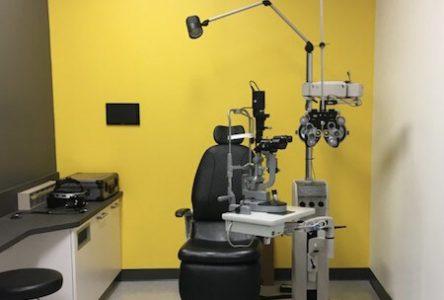 Salle pour examen optométrique, pavillon Jean-Brillant, Université de Montréal