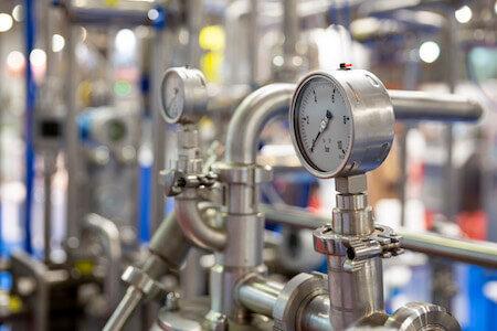 Instrument de mesure de la pression pour la pasteurization du lait